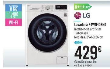 Oferta de Lavadora F4WN408N0 LG por 429€
