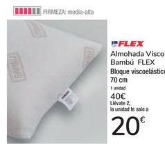 Oferta de Almohada Visco Bambú FLEX  por 40€
