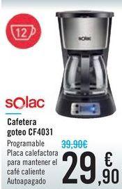 Oferta de Cafetera goteo CF4031 SOLAC por 29,9€