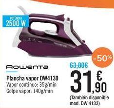 Oferta de Plancha vapor DW4130 ROWENTA por 31,9€