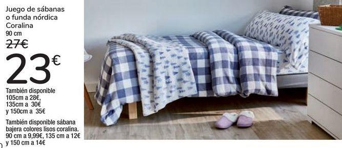 Oferta de Juego de sábanas o funda nórdica Coralina  por 23€