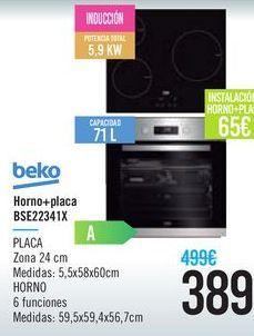 Oferta de Horno+ placa BSE22341X Beko  por 389€