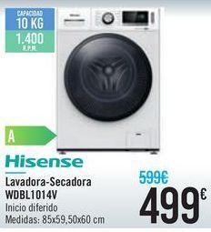 Oferta de Lavadora-secadora WDBL1014V Hisense  por 499€