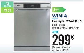 Oferta de Lavavajillas WVW-13A1ESI  por 299€