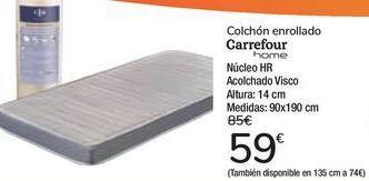Oferta de Colchón enrollado Carrefour  por 59€