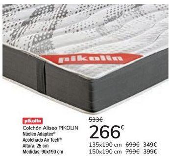 Oferta de Colchón Aliseo PIKOLIN por 266€