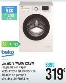 Oferta de Lavadora WTA9712XSW Beko  por 319€