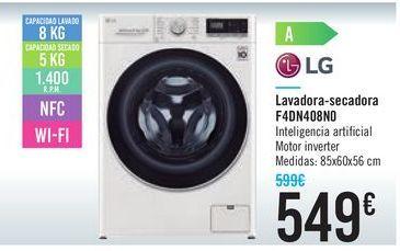 Oferta de Lavadora-secadora F4DN408N0 LG por 549€