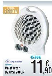 Oferta de Calefactor O2APSF2000N por 11,9€