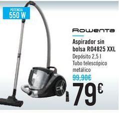 Oferta de Aspirador sin bolsa R04825 XXL ROWENTA por 79€