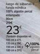 Oferta de Juego de sábanas o funda nórdica  por 23€