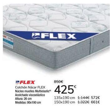 Oferta de Colchón Nácar FLEX  por 425€