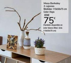 Oferta de Mesa Berkeley 2 cajones  por 75€