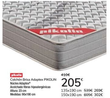 Oferta de Colchón Brisa Adaptex Pikolin  por 205€