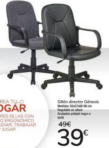 Oferta de Sillón director Génesis  por 39€
