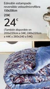 Oferta de Edredón estampado reversible veloir/microfibra  por 24€