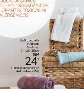 Oferta de Baúl trenzado mediano  por 24€