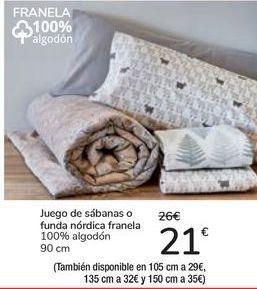 Oferta de Juego de sábanas o funda nórdica franela  por 21€