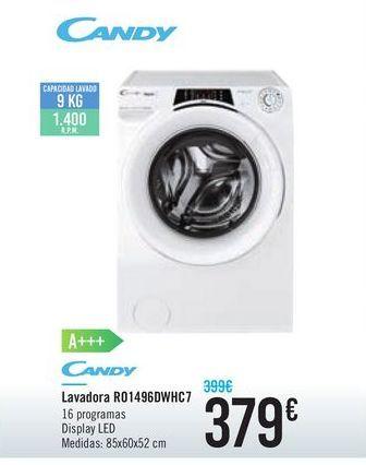 Oferta de Lavadora R01496DWHC7 CANDY por 379€