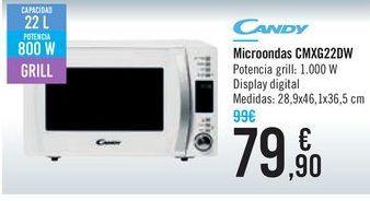 Oferta de Microondas CMXG22DW CANDY por 79,9€