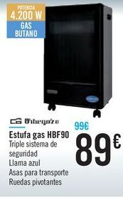 Oferta de Estufa de gas Orbegozo HBF90 por 89€