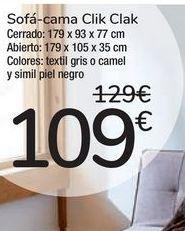 Oferta de Sofá-cama Clik clak  por 109€
