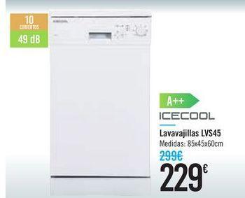 Oferta de Lavavajillas LVS45 ICECOOL por 229€