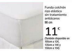 Oferta de Funda colchón sin tratamiento antiácaros  por 11€