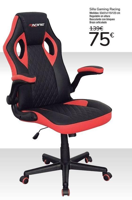 Oferta de Silla Gaming Racing por 75€