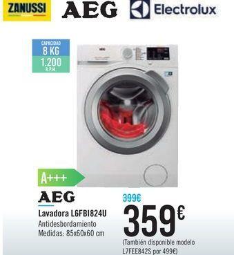 Oferta de Lavadora L6FB1824U AEG  por 359€