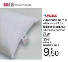 Oferta de Almohada fibra antiácaros FLEX  por 9,5€