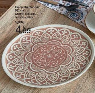 Oferta de Bajoplato Mandala  por 4,99€