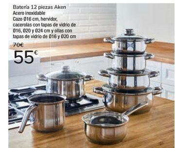 Oferta de Batería 12 piezas Aken  por 55€