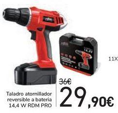 Oferta de Taladro atornillador reversible a bateria RDM PRO  por 29,9€