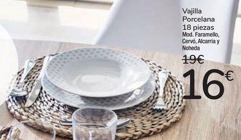 Oferta de Vajilla Porcelana 18 piezas por 16€