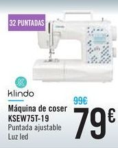 Oferta de Máquina de coser KSEW75T-19 Klindo por 79€