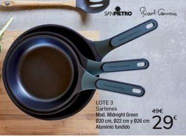Oferta de LOTE 3 Sartenes Mod. Midnight Green por 29€