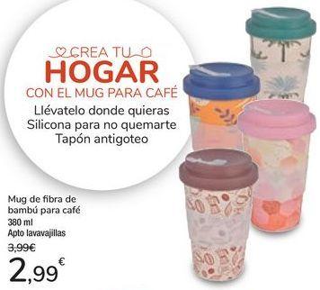 Oferta de Mug de fibra de bambú para café por 2,99€