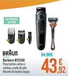 Oferta de Barbero BT5240 BRAUN por 43,92€