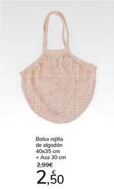 Oferta de Bolsa rejilla de algodón + Asa por 2,5€