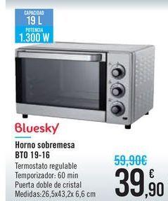 Oferta de Horno sobremesa BTO 19-16 Bluesky por 39,9€