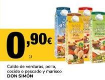 Oferta de Caldo de verduras Don Simón por 0,9€