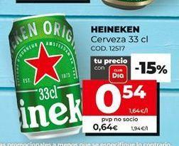 Oferta de Cerveza Heineken por 0,54€