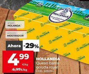 Oferta de Hollandia queso de barra gouda royal por 4,99€