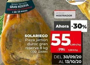 Oferta de Jamón reserva por 55€