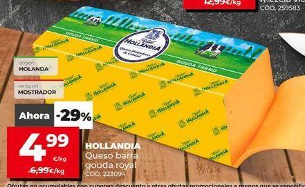 Oferta de Queso de barra Hollandia por 4,99€