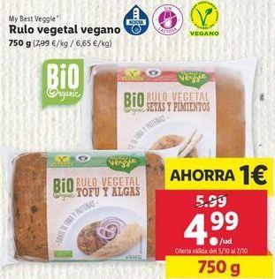 Oferta de Rulo vegetal vegano My best Veggie por 4,99€