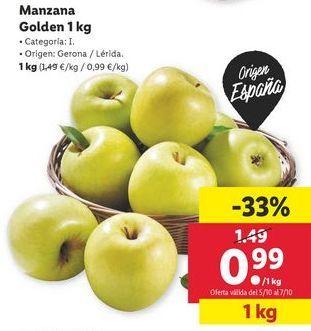 Oferta de Manzana golden por 0,99€