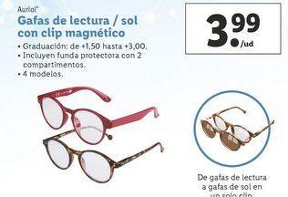 Oferta de Gafas de lectura / sol con clip magnetico Auriol por 3,99€