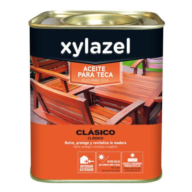 Oferta de ACEITE TECA INCOLORO XYLAZEL 750 ml por 7,95€